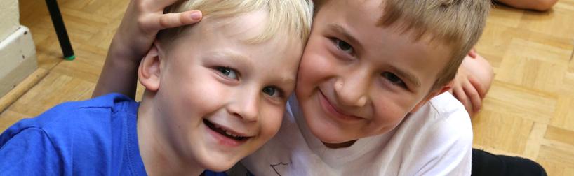 happy smiling pupils