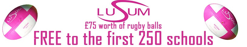 Free Lusum Rugby balls for schools